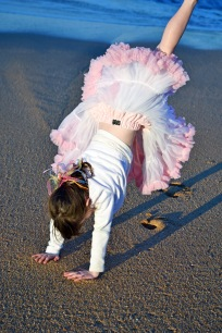 Cartwheels in the sand.