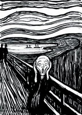 I can usually relate to The Scream by Edward Munch