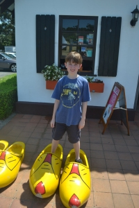 Wearing clogs in Coffs Harbour