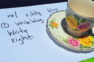 I'd do anything for a quiet cup of tea and a chance to catch up on my blog!