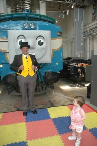Miss checking out Sir Topham Hat