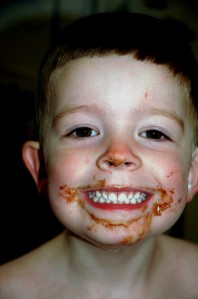 Mister aged 4 with an irresistible  chocolate smile.