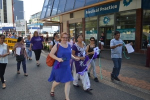 International Women's Day March through Gosford.