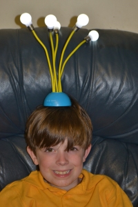 My son has an all systems light bulb moment. He received this lamp for his birthday today.