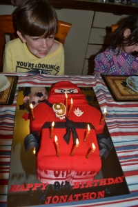 The Lego Ninja Man Cake made by Cathy.