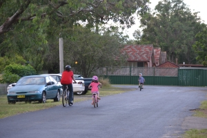 Bike riding with the kids
