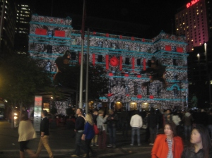 Customs House during the Vivid Festival
