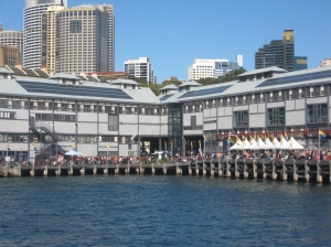 The Wharf Theatre home to the Sydney Theatre Company and the Sydney Writers' Festival