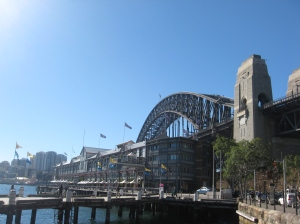The Sydney Harbour Bridge viewed from the Walsh Bay precinct