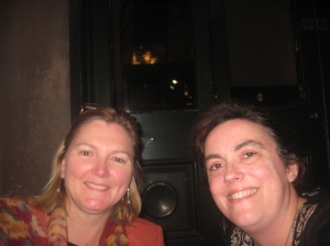 Jennifer and I at dinner