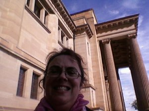 Me outside the Mitchell Library