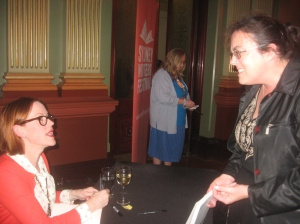 Molly Ringwald signing her book at Sydney Town Hall