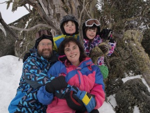 Family Portrait 2012- I had serious breathing troubles climbing up the hill.