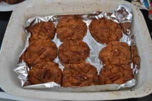 Choc Pecan Cookies.