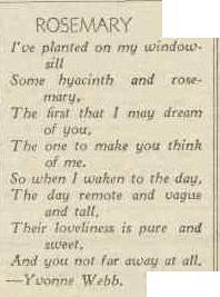 rosemary poem