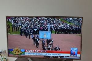 Watching the Canberra March on TV