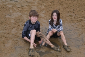 The kids on school holidays...Pittwater, Palm Beach.