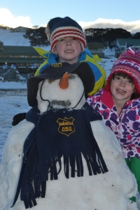 The kids with our snowman 2012.