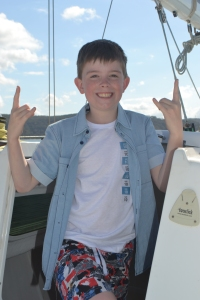 Our son loves sailing and being oout on the yacht.