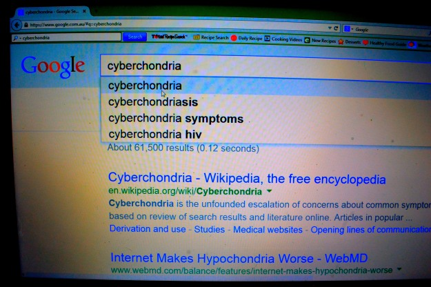 Google: a cyberchondriac's best friend.