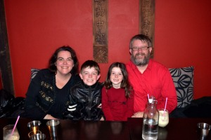 Our family at Yoda celebrating my birthday in July.