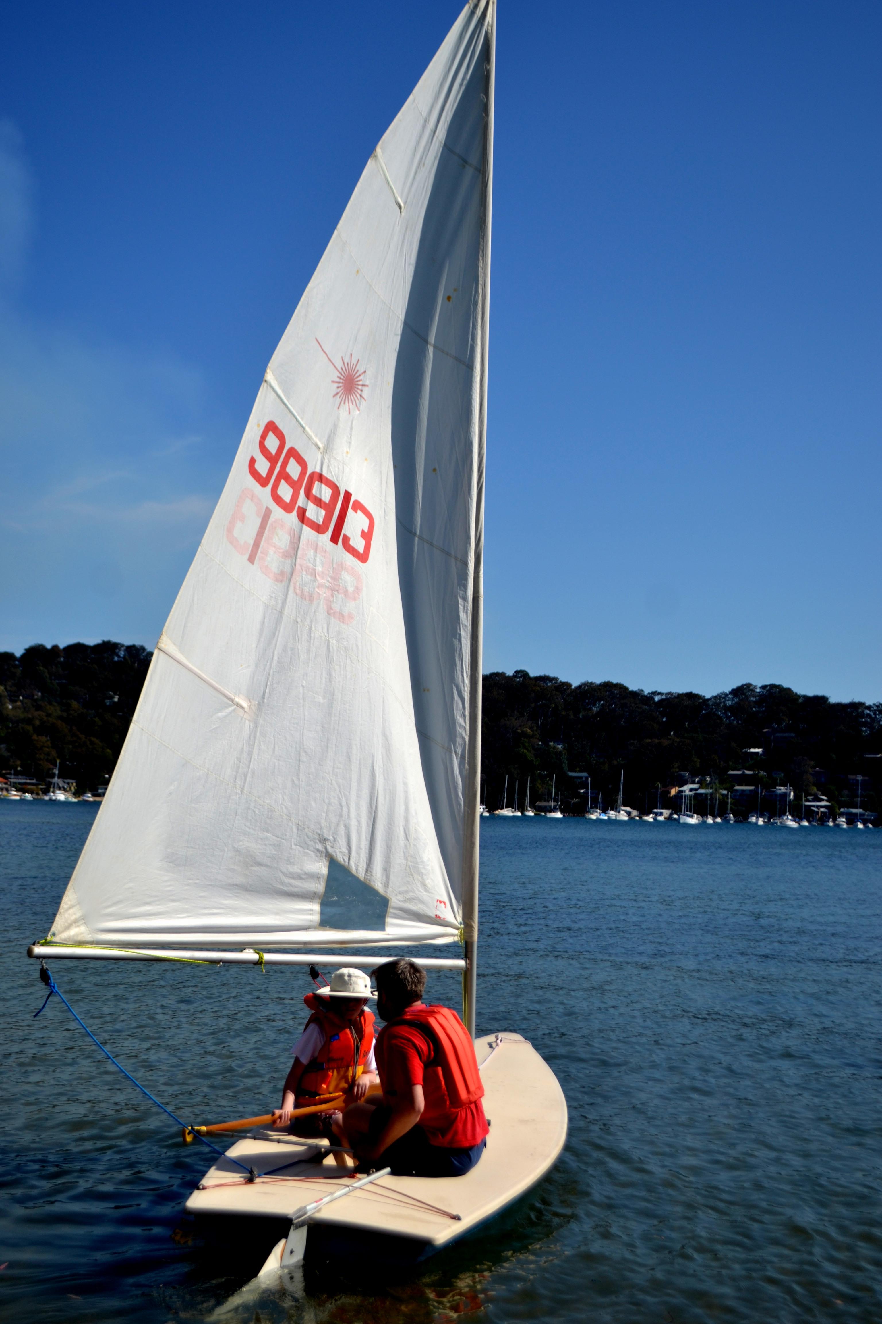 Jon & Geoff sailing