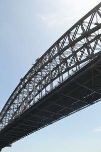 A different perspective...going under the Sydney Harbour Bridge.