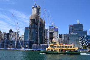 A Crane-eye's view of Sydney. Bangaroo.