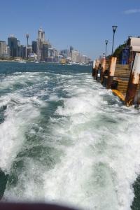 Leaving Balmain Wharf with more than a splash.