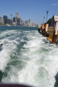 Leaving Balmain Wharf with more than a splash.