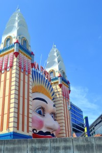 The Luna Park Face viewed from the ferry.