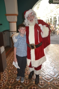 Mister and the old big red fella Christmas 2014