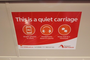 Stop talking! This is a quiet carriage!!!