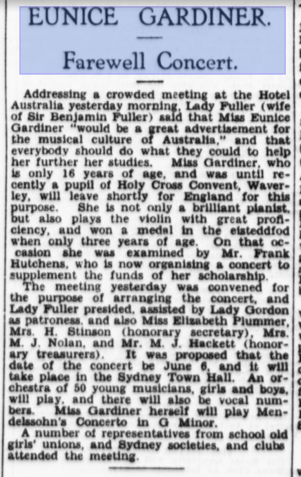 A review of my grandmother's Concert at the Sydney Town Hall SMH April 10 1935