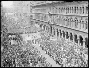 ANZAC Parade through Martin Place 1930
