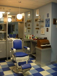 1970s Barber shop: home of the short back and sides.