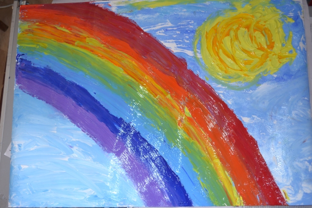 Ever during the most violent of storms, never lose sight of hope. It takes sun and rain to make a rainbow.