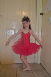 Our little ballerina 2011 aged 5...leaving for her second concert.