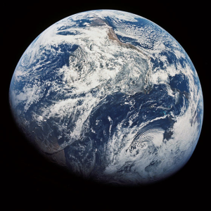 Earth viewed from space.