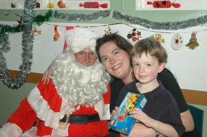 Mister & I with Santa at the Pearl Beach, Playgroup 2008.