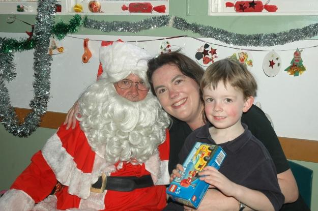 Jonathon & Mummy Santa2008
