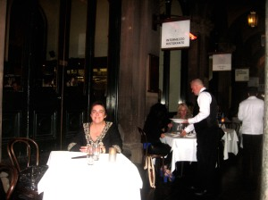 Here I am dining out in Martin Place after attending the Sydney Writer's Festival last year.