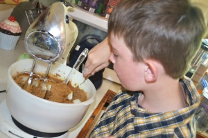 A tried and tested tradition: pinching the mixture!