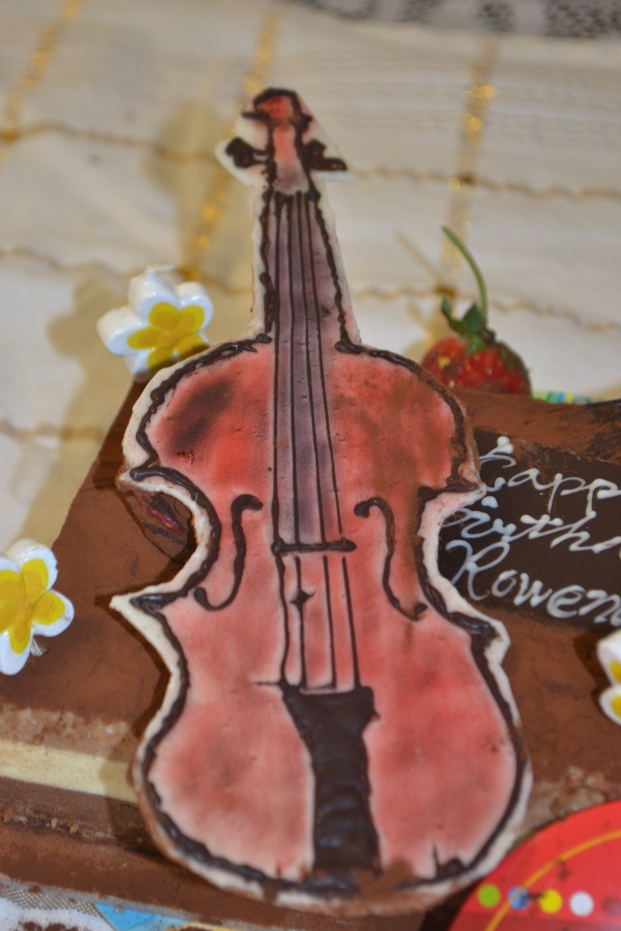 I was quite surprised when my mum ordered me a violin cake for my birthday in 2012. It was something of a premonition! Good on you Mum!