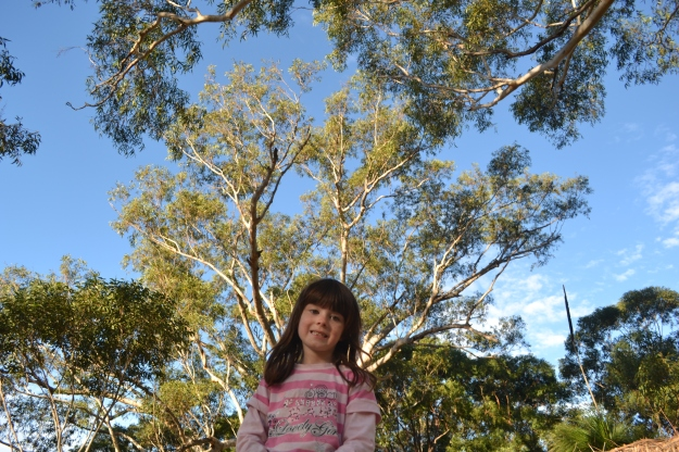 "Our daughter growing into a mighty eucalypt or ""gum"" tree."