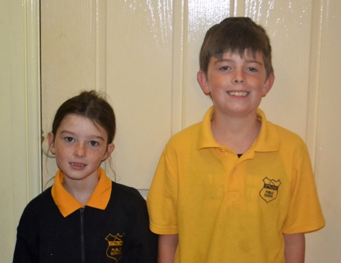 The kids all dressed and ready for school. It was raining outside so we didn't get our usual shot at the front door.
