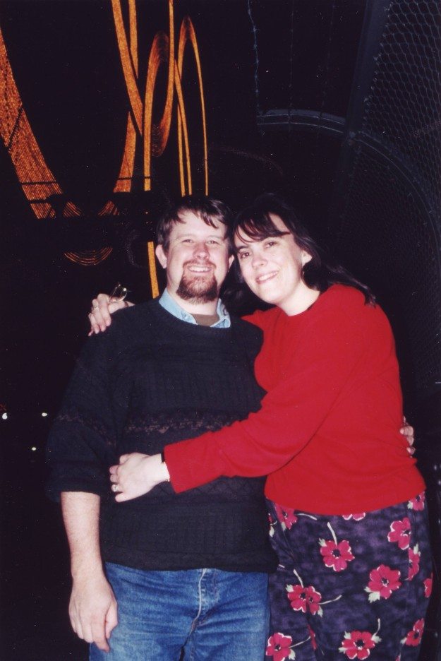 Geoff and I walking across the Sydney Harbour Bridge during  the Sydney 2000 Olympics