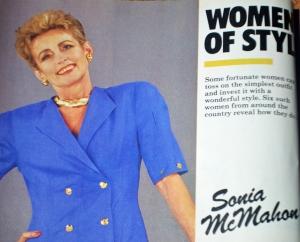 Lady Sonia McMahon 1988
