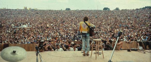 Woodstock Festival, August 15 to 18, 1969.