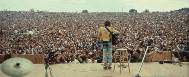 Woodstock Festival, August 15 to 18, 1969.